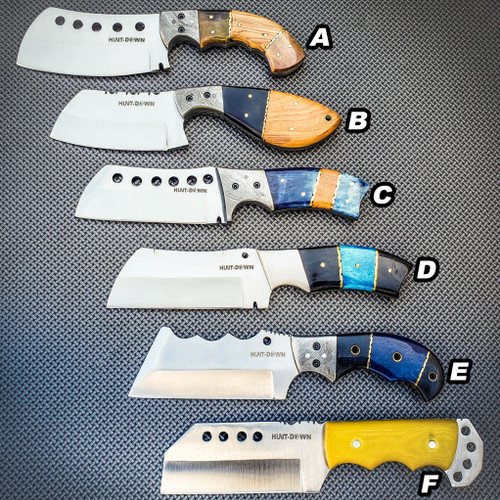"""9"""" Heavy Duty Full Tang Chef Kitchen Fixed Blade Cleaver Butcher Chopper Knife"""