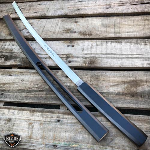 """37"""" Japanese Samurai Sword Katana Fixed Blade Shirasaya Ninja Bushido Knife WOOD"""
