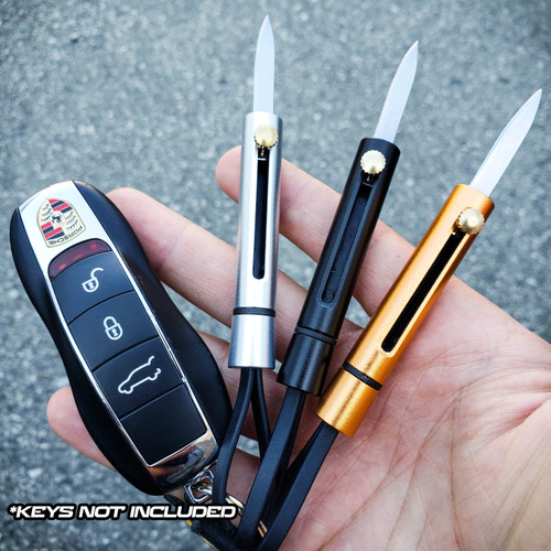 Outdoor Stainless Blade EDC Pocket Sliding Blade Knife Keychain Survival Tool