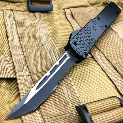 "8"" Black Tanto Blade Commando OTF"