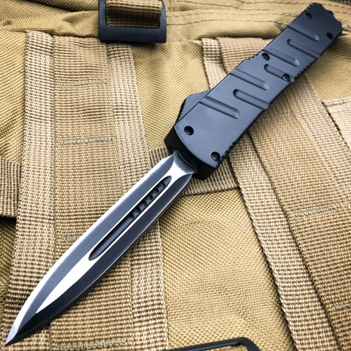 Black Infiltrator OTF Knife