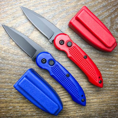 Everyday Carry Mini Covert Auto Black Pocket Knife New