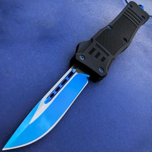 "9"" TANTO BLUE STEEL Ghost OTF Tactical Pocket Knife New"