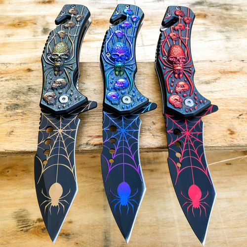 spider pocket knife