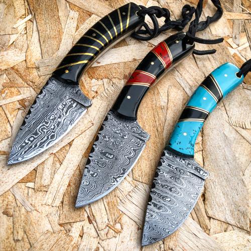 damascus survival knife