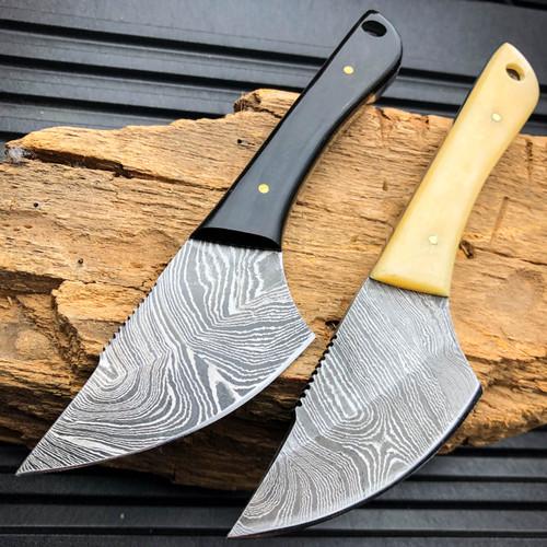 damascus skinning knife