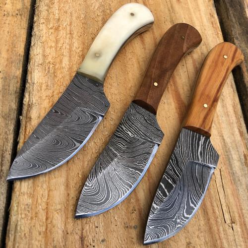 "6"" DAMASCUS FULL Tang Hunting Fixed Blade Survival Skinner Camping Knife NEW"
