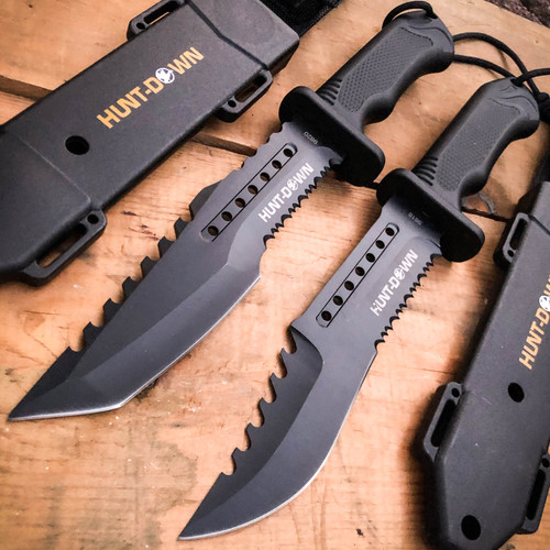 """12"""" Military Tactical Hunting Fixed Blade Bowie Camping Knife Fire Starter NEW"""