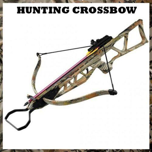 TACTICAL 150 LB ARCHERY HUNTING Gun CAMO PISTOL CROSSBOW W/ ARROWS BOLTS XBOW