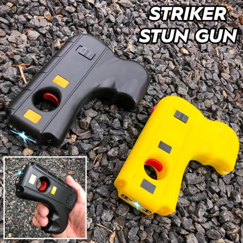 Striker Self Defense 10MV Stun Gun LED Light w/ Safety Pin