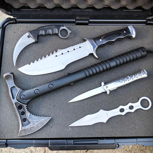 5PC Silver Tactical Set
