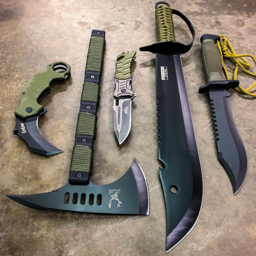 5 PC Military Outdoor Camping Survival Set