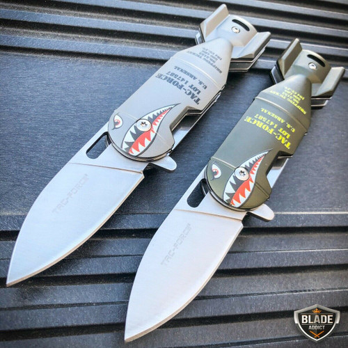 """TAC-FORCE 6.25"""" Military Bomb Tactical Spring Open Assisted Folding Pocket Knife"""