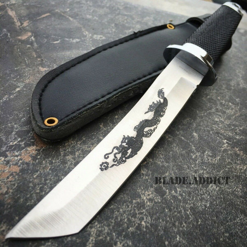 "9"" Samurai Katana Style Dragon Tanto Short Sword Hunting Knife Dagger Ninja NEW"