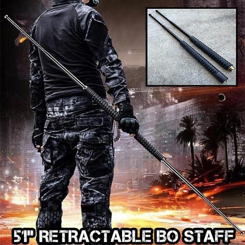 "51"" Tactical Self Defense Retractable Bo Staff"