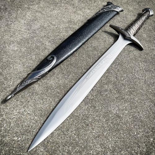 "24"" LORD OF THE RINGS Frodo MEDIEVAL ROMAN FANTASY DAGGER SWORD BLACK KNIFE"