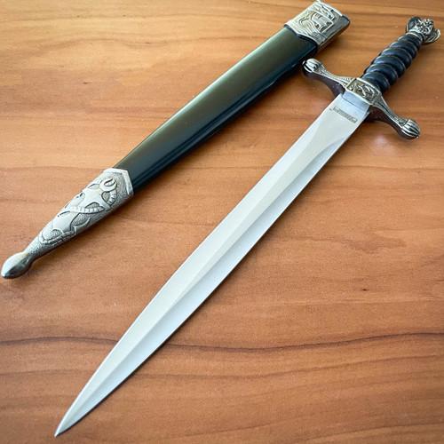 "13"" Medieval Ornate Fantasy Sailors Navy Dagger Short Sword w/ Sheath NEW"