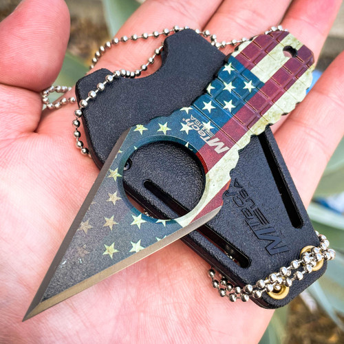 MTECH USA American Flag Neck Knife