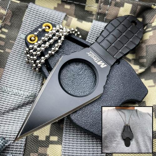 MTECH Black Tactical Neck Knife