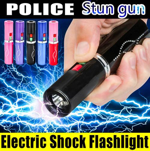 300 Million Volt Lipstick Stun Gun w/ LED Rechargeable Flashlight NEW