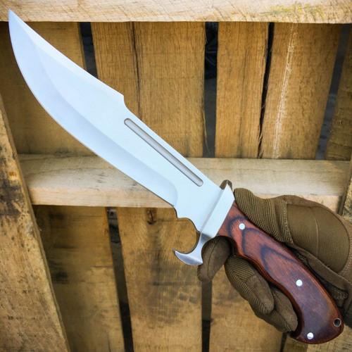 """13.5"""" HEAVY DUTY HUNTING FIXED BLADE MACHETE Rambo BOWIE Knife"""