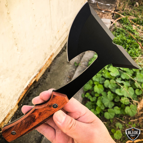 """9"""" Tactical Tomahawk Fixed Blade Throwing Axe Hatchet Camping Survival Knife"""