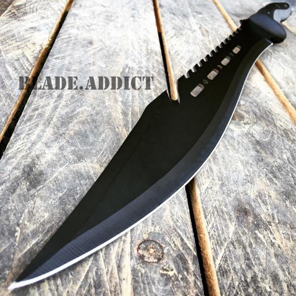 """25"""" Black Full Tang Tactical Machete Hunting Sword"""