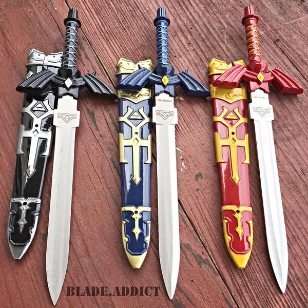 3PC SET Legend of Zelda Hylian Hyrule Ocarina of Time Master Sword Short Dagger
