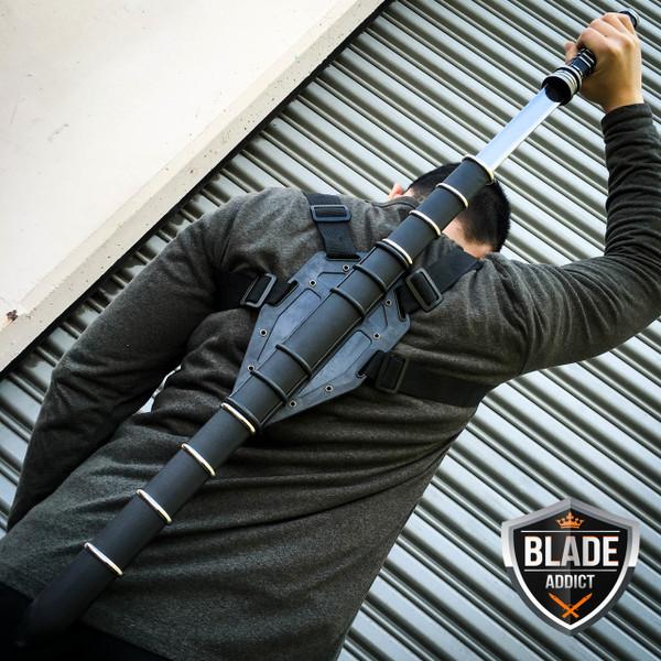 BLADE SWORD OF THE DAYWALKER VAMPIRE SLAYER COSPLAY KNIFE + HARD SHEATH HARNESS
