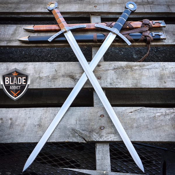 2PC NEW King Arthur Excalibur Crusader Medieval Sword Historical Fantasy MACHETE