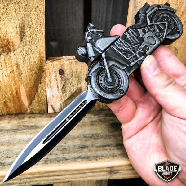 stonewash motorcycle otf knife