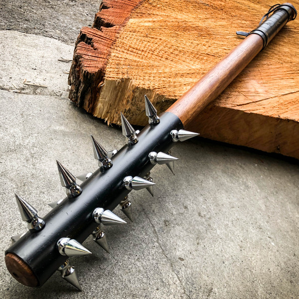 medieval spiked barbarian mace