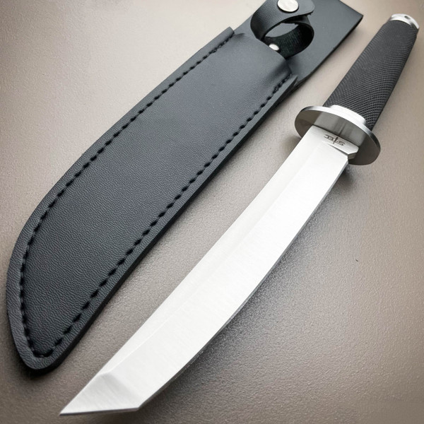 "12.5"" Tactical Samurai Katana Style Dragon Tanto Fixed Blade Dagger Ninja Knife"