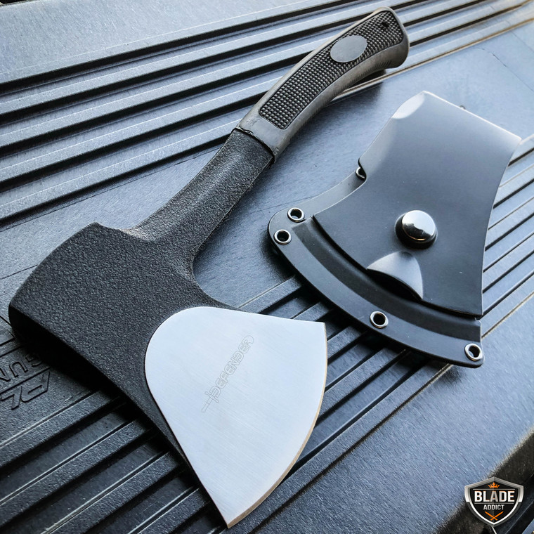 """11"""" Survival Camping Fixed Blade Hatchet Axe Chopping Hunting Knife w/ Sheath"""