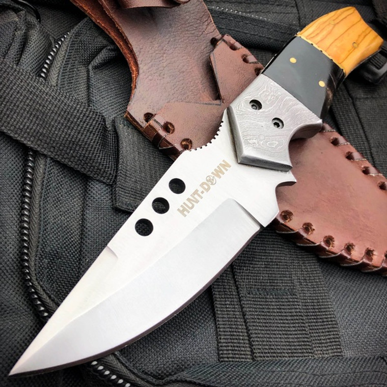 """9"""" Tactical Full Tang Camping Fixed Blade Hunting Drop Point Skinning Knife NEW"""