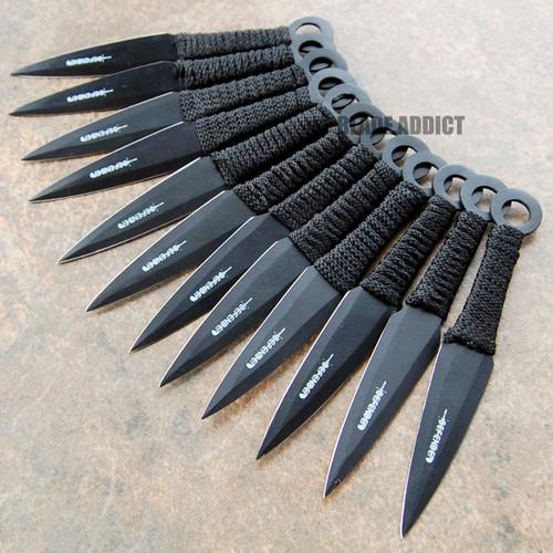 """12 Pc 6"""" Ninja Tactical Combat Naruto Kunai Throwing Knife ..."""