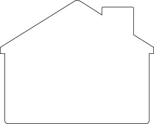 Blank - House Shaped Sign 18x24 White