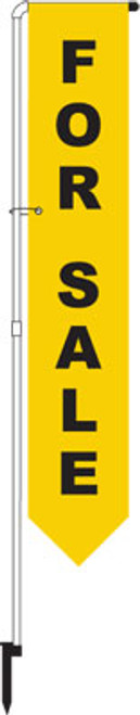For Sale Yard Marker Yellow - FLAG ONLY!