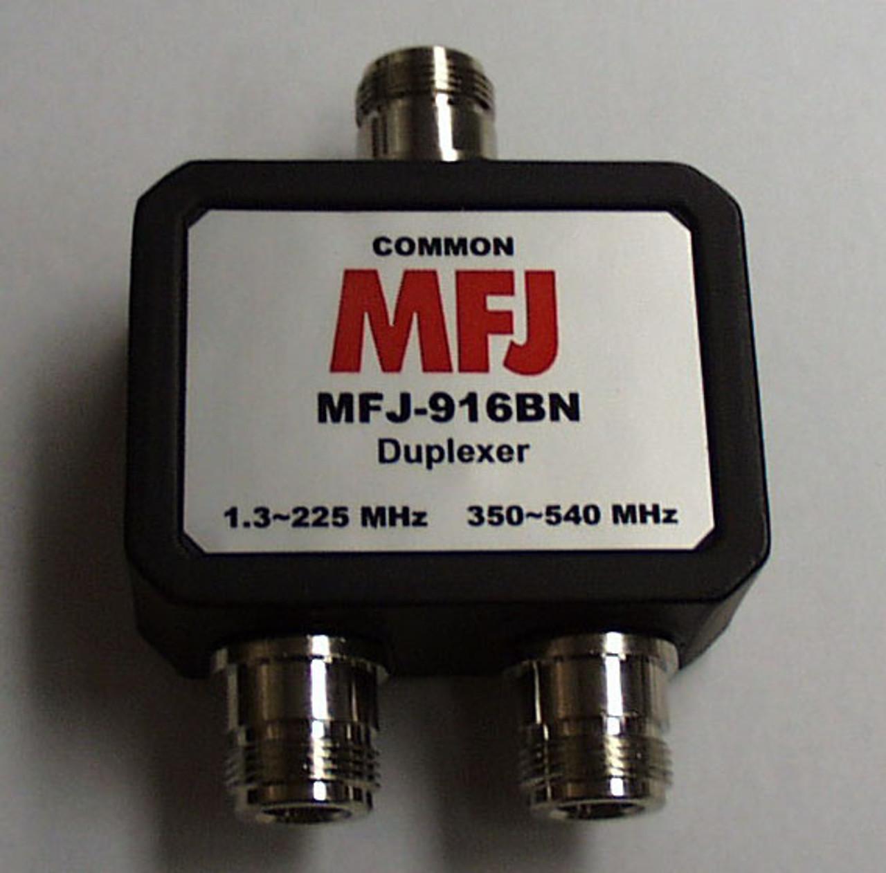 MFJ-916BN, 1.8-225 MHZ, 350-540 MHZ DUPLEXER, N FEMALE
