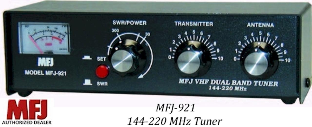 MFJ-921, ANT. TUNER, 144 MHZ & 220 MHZ, 200W, METER