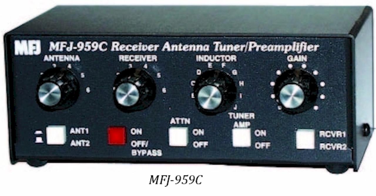 MFJ-959C, ANTENNA TUNER, SHORT WAVE LISTENER, WITH PREAMP