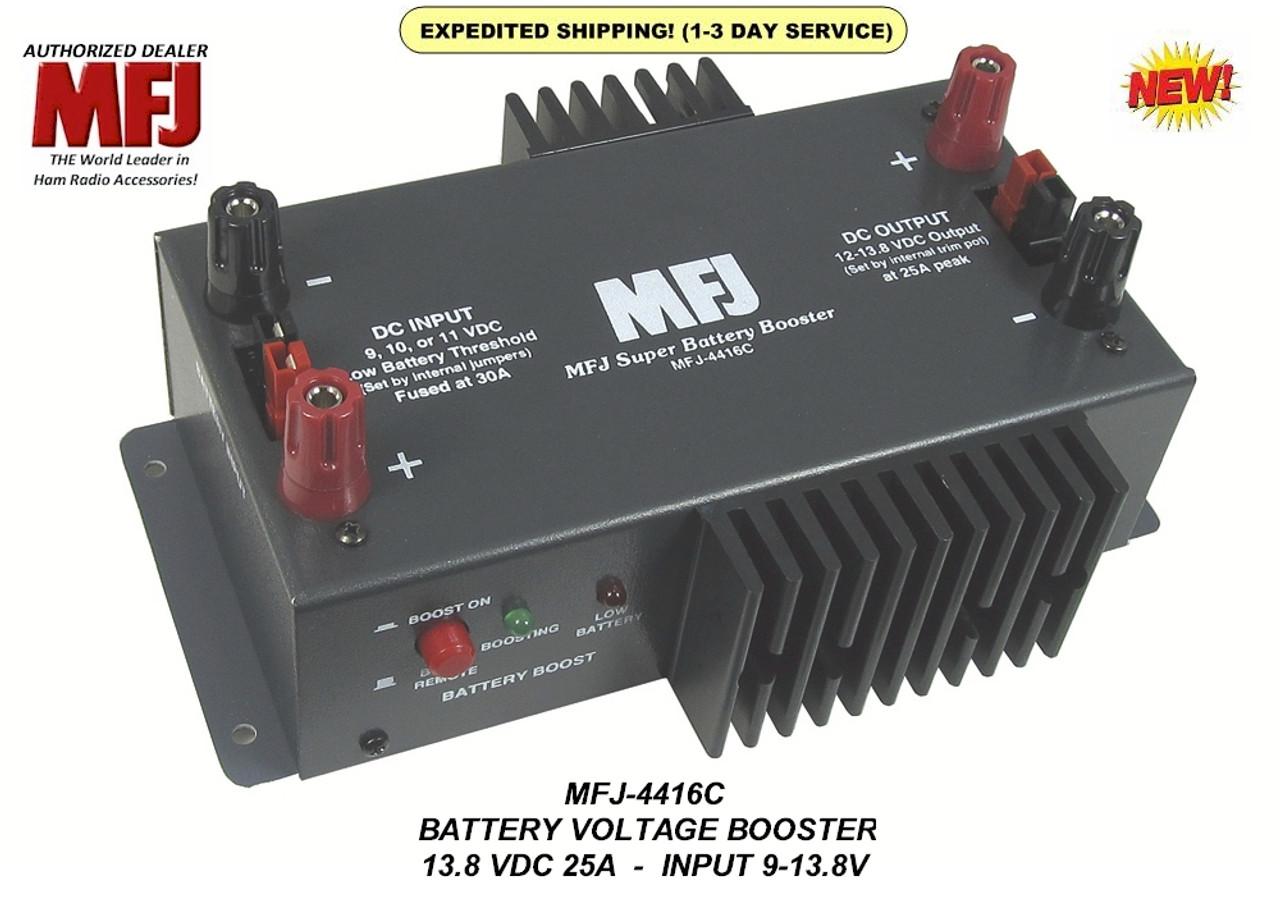 MFJ-4416C - SUPER BATTERY VOLTAGE BOOSTER, 12V