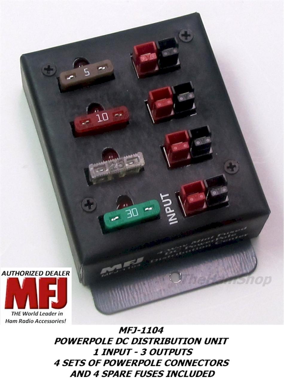 MFJ-1104 POWERPOLE DC OUTLET 1 INPUT - 3 OUTPUTS