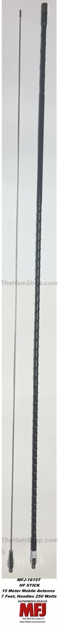 MFJ-1615T 15 Meter Mobile HF HamStick Antenna with 3/8-24 Connector