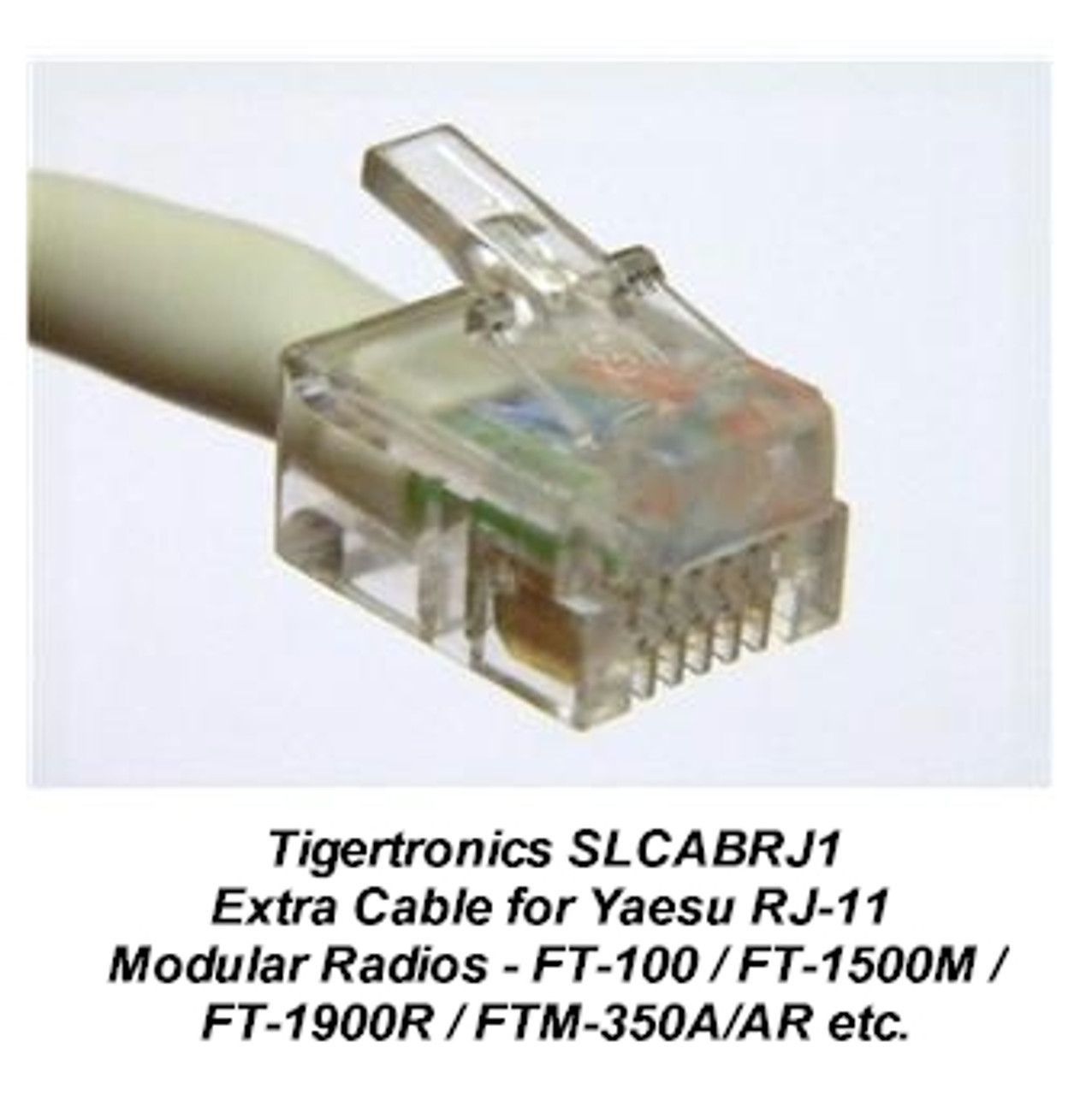 Tigertronics Signalink SLCABRJ1 Cable - This radio cable is compatible with virtually any radio that has an 6-pin RJ-11 /RJ-12 type Mic jack