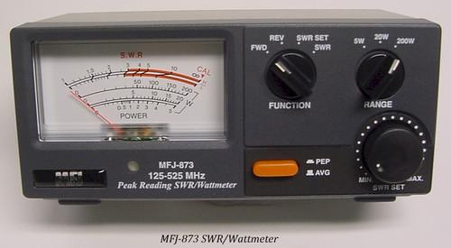 MFJ-873, SWR/WATTMETER, 125-525 MHZ, 200 WATTS