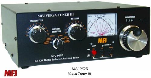 MFJ-962D, ANTENNA TUNER, 1.5 KW, 1.8-30 MHZ