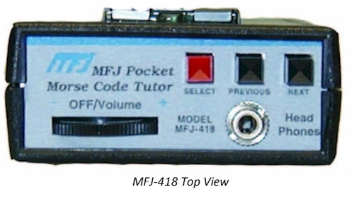 MFJ-418 POCKET SIZE MORSE CODE TUTOR WITH LCD DISPLAY