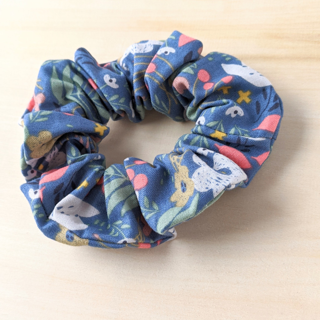 Flower Field scrunchie