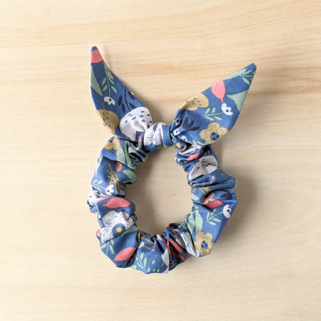 Flower Field scrunchie / bunny ears